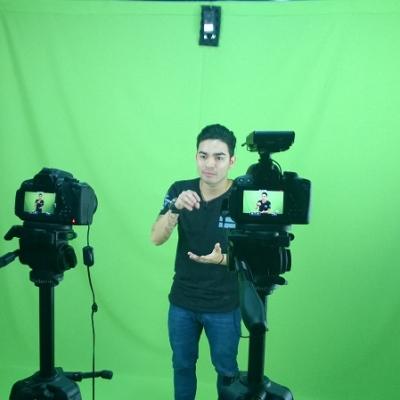Mais um cenário possível para gravação de Videoaulas, entrevistas ou comerciais de TV com o uso de Cromakey.